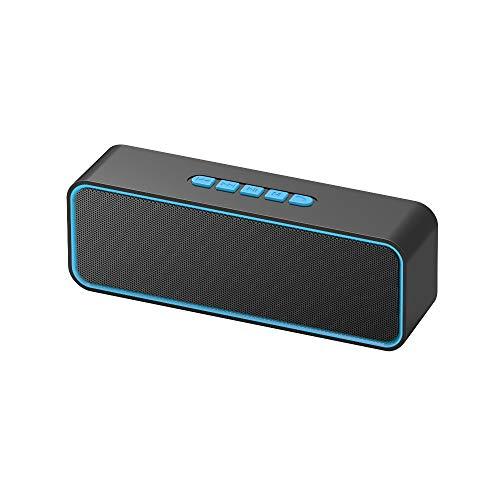 Sonkir Portable TWS Bluetooth 5.0 Wireless-Lautsprecher mit 3D-Stereo-HiFi-Bass, integrierter 1500-mAh-Batterie, Unterstützung für 12-Stunden-Wiedergabe