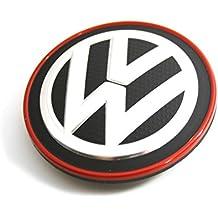 Recambio Original Volkswagen - Tapa Centro Rueda Llantas de Aleación (borde cromado / rojo)