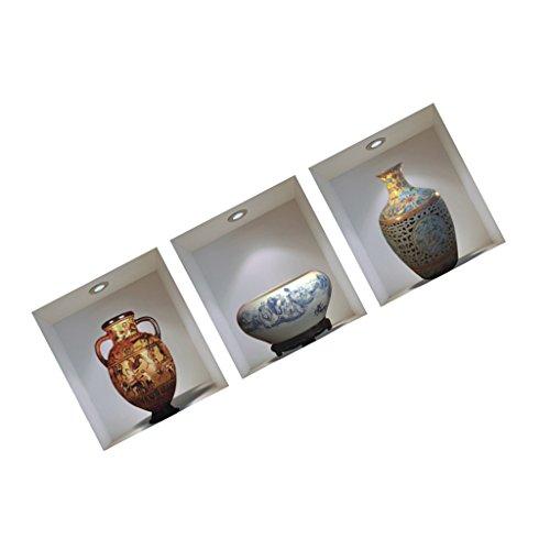 3d-vintage-vase-blumen-wandaufkleber-aufkleber-folie-wand-haus-wohnzimmer-schlafzimmer-deko