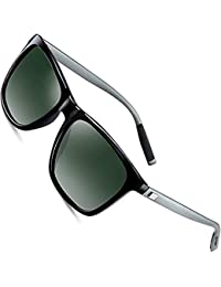 9114a8de511aa4 wearPro Lunettes de soleil Hommes Rétro Vintage Polarized Sun Glasses WP1003