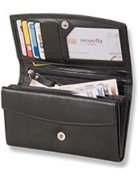 Rimbaldi - Große Kalbsleder-Damengeldbörse mit viel Platz für alles mögliche aus weichem, naturbelassenem Kalbsleder in Schwarz