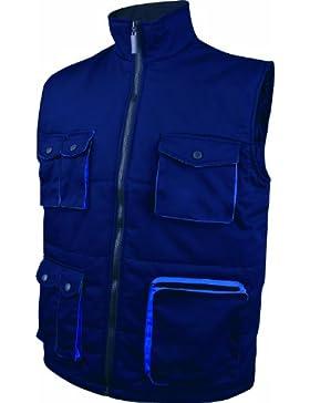 Delta plus - Chaleco poliester algodón mach 2 azul marino rey talla -l