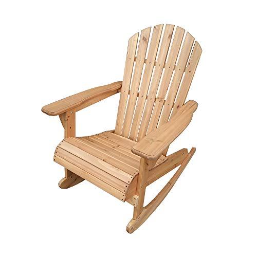 Soddyenergy Trueshopping Bowland Adirondack Schaukelstuhl aus Holz für Garten oder Terrasse -