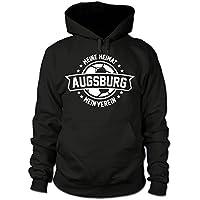 shirtloge - AUGSBURG - Meine Heimat, mein Verein - Fan Kapuzenpullover - Schwarz - Größe S - 3XL