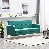 FESTNIGHT Versátil Sofá Sofá Cama Reclinable Lounge de Tela, Respaldo Ajustable con 3 Configuraciones de Posición Verde
