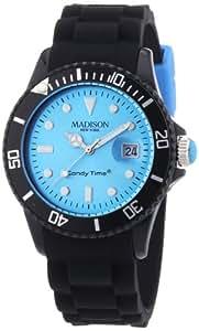 MADISON NEW YORK Unisex-Armbanduhr Candy Time - Black Line Analog Quarz Silikon U4486-06/1
