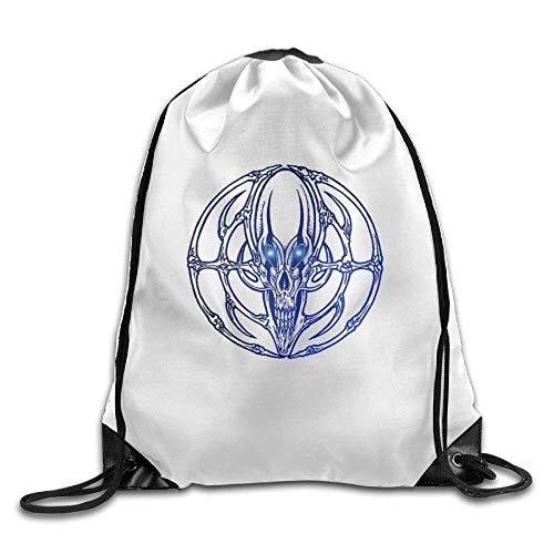 (LULABE 3D Print Drawstring Backpack | Rucksack | Shoulder Bags | Gym Bag - (Skeleton Aliens))