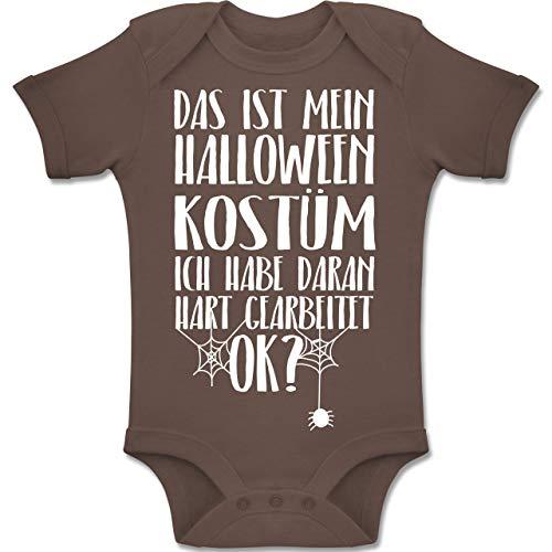 Mama Kostüm Spinne Und Baby - Shirtracer Anlässe Baby - Das ist Mein Halloween Kostüm - 6-12 Monate - Braun - BZ10 - Baby Body Kurzarm Jungen Mädchen