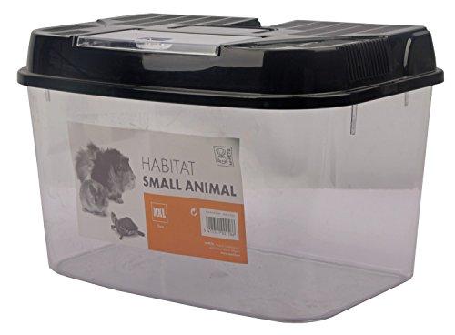 Transportbox Fütterungsbox für Kleintiere + Nager HABITAT 43,5 x 27,5 x 27,5 cm