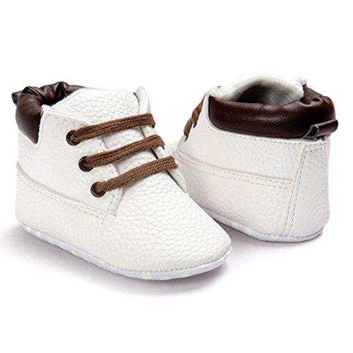 Wocachi Branco Sapatos Meninos Sapatos 11 Únicos Criança Couro Branco Macios Rastejando Bebê De Sapatos Infantis Meninas HwZrUHq