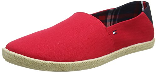 Tommy Hilfiger Herren Easy Summer Slip ON Espadrilles, Rot (Tango Red 611), 43 EU