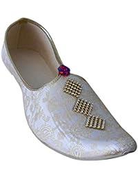 KALRA Creations Herren Schuhe Traditionelle Seide indischen Party