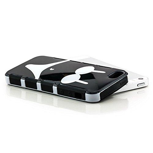 Saxonia. Saxonia Coque de protection arrière rigide Avec motif Pour Apple iPhone 5 5S Fuck off / England Bikini