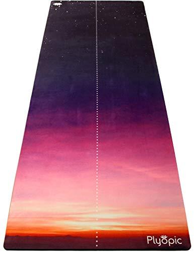 Plyopic Tappetino da Yoga | Antiscivolo Tappetino/Asciugamano. Naturale e Ecologico | Ideale per Yoga, Pilates, Esercizi, Fitness, Hot o Bikram | Progettato per Grip quando si è Asciutti o Sudati