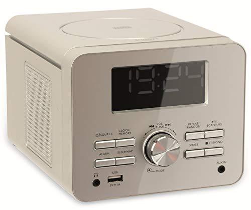 Terris CDR274 CD-Player 2.0 Streaming UKW Uhrenradio Aluminium (Silber)