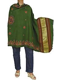 Brodé châle pour femmes - Pure laine enrouler accessoires fait main 84 x 36 pouces
