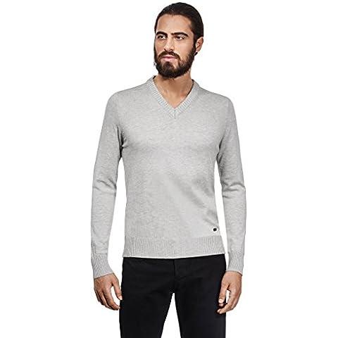 VB -  Maglione  - Basic - Collo a V - Maniche lunghe  - Uomo grigio X-Large
