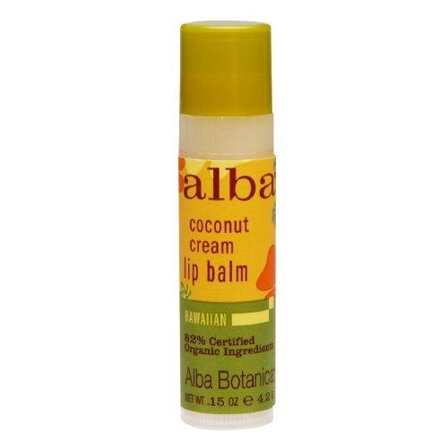 Alba Botanica: Hawaiian Coconut Cream Lip Balm 0.15 oz (72 pack) by Alba Botanica - Alba Botanica Coconut Lip Balm
