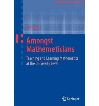 [Amongst Mathematicians] [by: Elena Nardi]