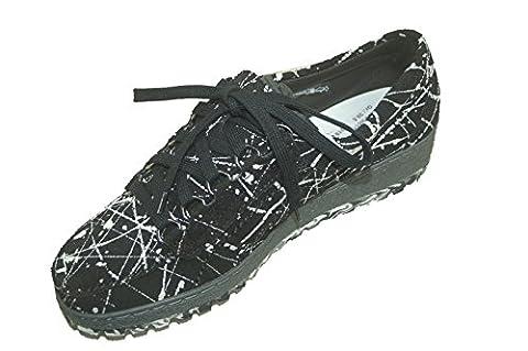 MEPHISTO LADY L818VL4 femmes Chaussures à lacets, noir 39 EU