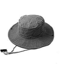 Accessoryo - le denim Gris sentir safari / seau chapeau avec bascule de réglage