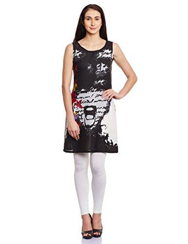 Shakumbhari Women's Cotton Wrap Dress (SW-661-L_Black)  available at amazon for Rs.298