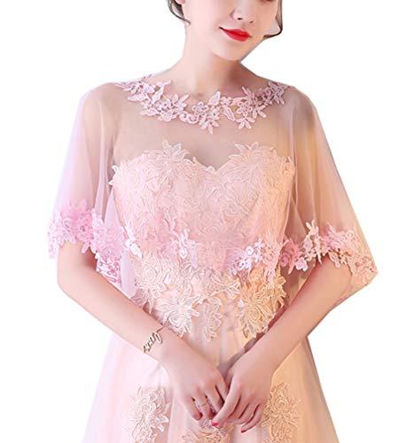 Cheerlife Elegant Damen Spitze Cape Boleros Top Spitzejacke für Brautkleid Abendkleid Cocktaikleid Tuch Umhang ()
