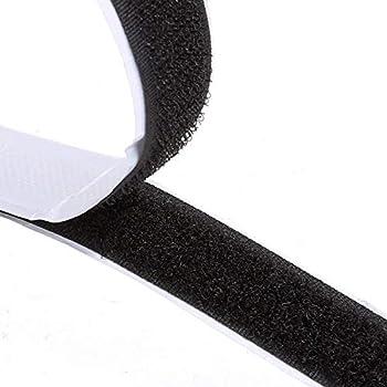 25 Stück Klettverschluss 20mm Klettband Mix 2 Hakenband Flauschband Nähen
