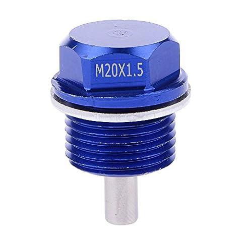 Generic STK0152001055 M20X1,5 Anodisé Magnétique Bouchon Boulon De Vidange Du Carter D'Huile Moteur Correspond Bleu