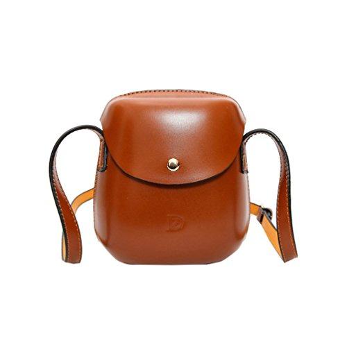 Vbiger Mini Schultertasche Modisch Kuriertaschen Lässig PU-Leder Handtasche Stilvolle Umhängetasche für Frauen