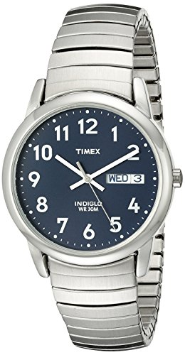 timex-mens-t20031-quartz-easy-reader-watch-with-blue-dial-analogue-display-and-silver-stainless-stee