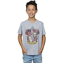 Harry Potter niños Gryffindor Distressed Crest Camiseta