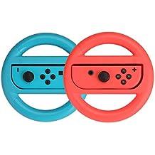AmazonBasics - Lenkrad für die Nintendo Switch, Blau/Rot (2er-Pack)