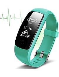 Smart-Armband-Blutdruck-Herzfrequenz-Messgerät Bluetooth-Fitnessuhr Herzfrequenz-Schlafüberwachung (Grün)