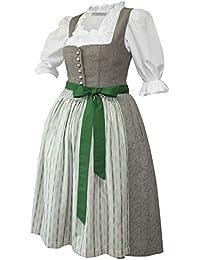 e1c40bf07eaff Kaiser Franz Josef Dirndl Trachten-Kleid Trachtenkleid edles Dirndlkleid  Leinen Baumwolle braun grün hochwertiges Leinendirndl