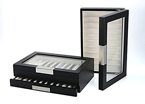 Frühlingsaktion Einschulung Büro Sammler Top XL Stiftebox zum stapeln geeignet aus Holz für 20 Füller Kugelschreiber Federhalter Pen Display Box