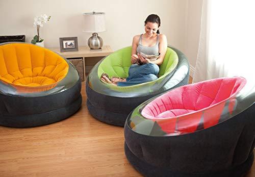 Intex Poltroncina Empire Cm 112X109X69 Colori Assortiti Poltrona Gonfiabile 608, Multicolore