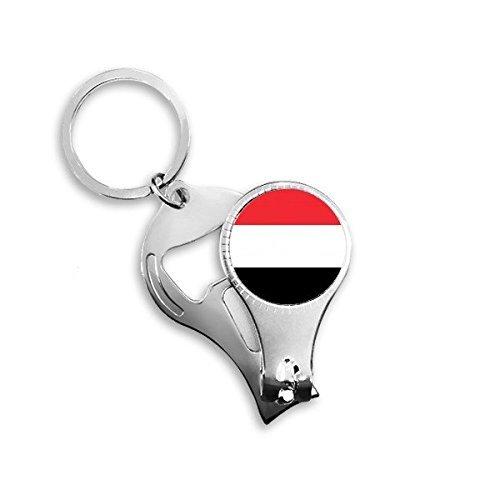 OIBHFO Home Jemen Nationalflagge Asien Land Symbol Mark Muster Metall Schlüsselanhänger Ring multifunktions Nagelknipser Flaschenöffner Auto Keychain Besten Charme Geschenk -
