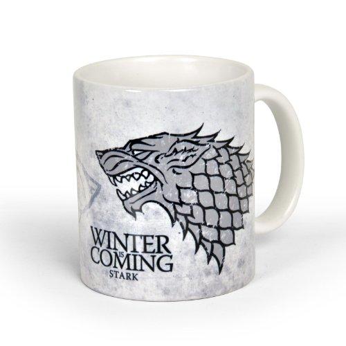 Game of Thrones - Haus Stark / Schattenwolf Tasse, offiziell lizenziert, umlaufend Bedruckt, 300ml