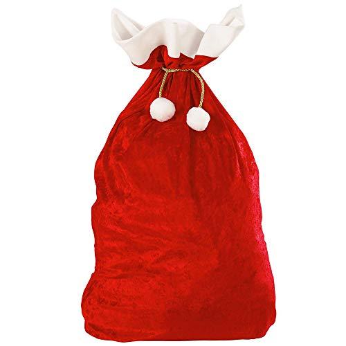 Beutel Kostüm Papier - Widmann 1561X Weihnachtsmann Sack aus Samt