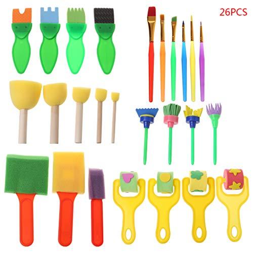 26 Stück Waschbare Schwammbürsten für Kinder, Spielzeug für Kinder, Kunsthandwerk Siehe Abbildung 5.4x8.5cm/2.13x3.35 (Thanksgiving-kunsthandwerk Für Kinder)