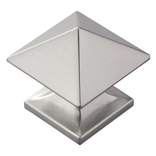 Hickory Hardware 1-1/4-Zoll Quadratisch Studio Collection Schrank Knauf, Silber, P3015-SN - Collection Satin Nickel Cabinet Knob
