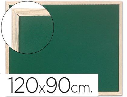 Pizarra verde con marco de madera de 120x90 cm