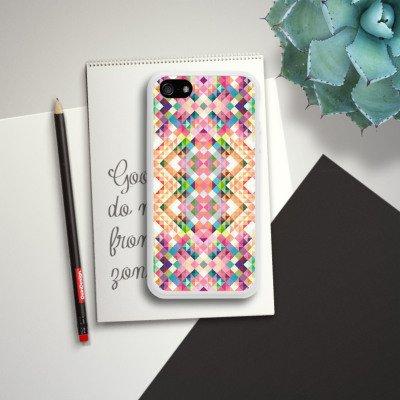 Apple iPhone 5s Housse étui coque protection Arc-en-ciel couleurs Motif Housse en silicone blanc