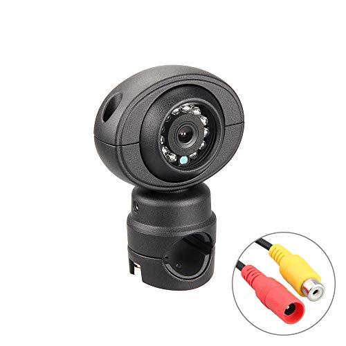 SKKMALL Schwarze Seitenkamera, analoge Kamera 1/3 Sony CCD-Farb-IR-Nachtsicht-Wasserdichte Rückfahrkamera für Rv, Bus, Anhänger, Mähdrescher, große landwirtschaftliche Maschine Sony-ccd-kamera