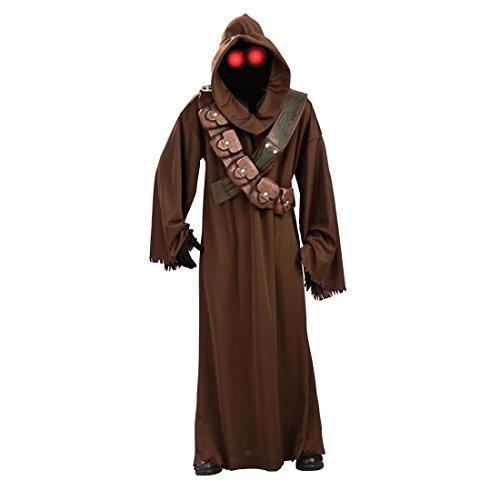 Original Star Wars Kostüm Jawa Outfit Herrenkostüm Starwars Karnevalskostüm Filmkostüm Lizenzkostüm XL 56 - Jawa Kostüm Maske
