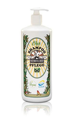 Bio Chia Pflegeshampoo - Vegan, glycerin- & laktosefrei mit 18 natürlichen Inhaltsstoffen wie Arganöl & Chiaextrakt - Haarpflege 1000ml von Kastenbein & Bosch