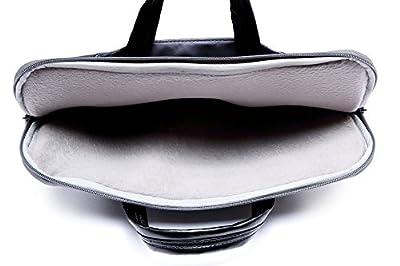 Sacoche Pochette Cuir pour Macbook air/Pro et Ordinateurs Portables 11.6-15.6 Pouces,Sac pour Chargeur