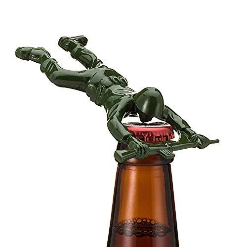 STAR-FIRE Fancy Bier Flaschenöffner, Green Army Man Flaschenöffner, EIN einzigartiges Geschenk für Männer, besonderes (Grün)
