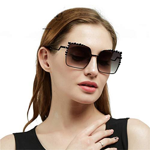 DAIYSNAFDN Frauen-großer Rahmen-Steigungs-Uv400 reizvolle Damen-Sonnenbrille, die Art-Sonnenbrille abwehrt C2